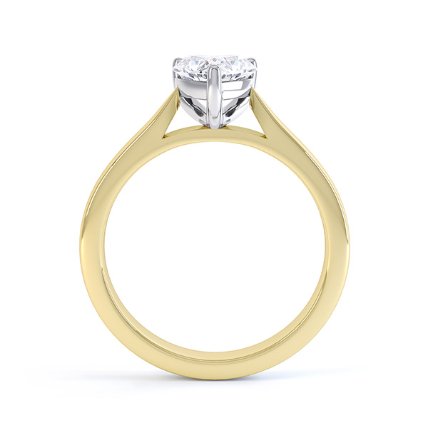 Kama 3 Claw Heart Shaped Solitaire Ring