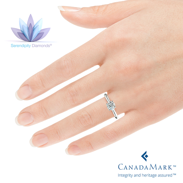 The Serendipity Ring, Shown on the Finger