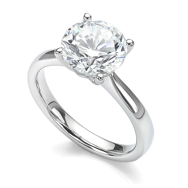 3 carat version of the Lila solitaire engagement ring in White Gold