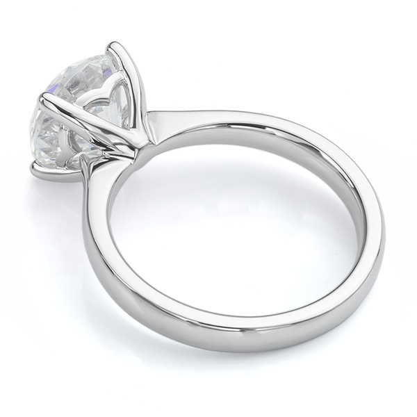 Lila solitaire engagement ring white gold side view