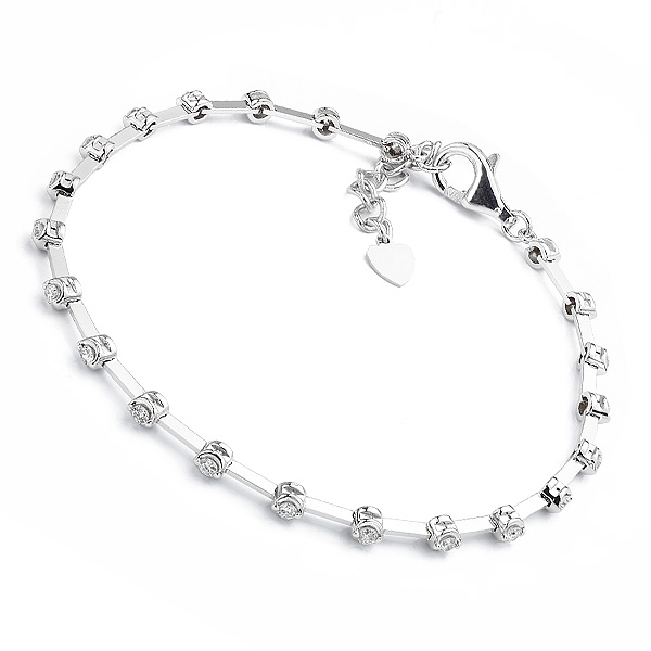18ct White Gold Line Bracelet