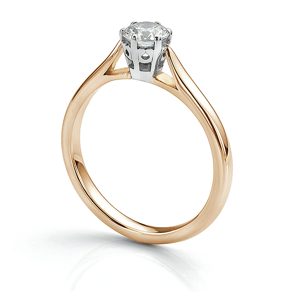 Beatrice diamond engagement ring 18ct Rose Gold with 0.50cts diamond