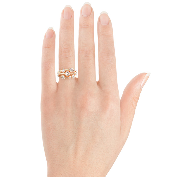 Madison raindance style ring shown with hand view
