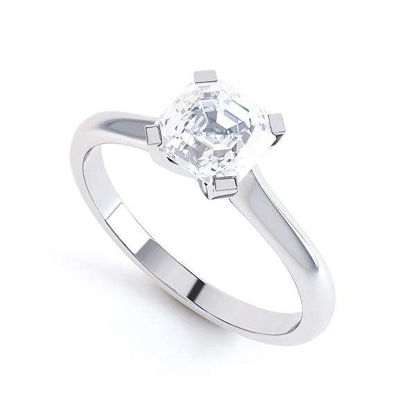 Asscher Cut Diamond Solitaire Perspective